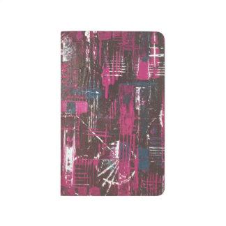 Abstract print pocket journal