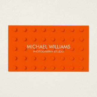 Abstract professional Plastic Orange Business Card