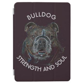 Abstract Psychedelic Dark Bulldog Drawing iPad Air Cover