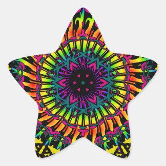 Abstract / Psychedelic Spiral Vortex Star Sticker