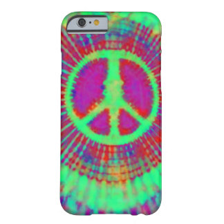 Abstract Psychedelic Tie-Dye Peace Sign Barely There iPhone 6 Case