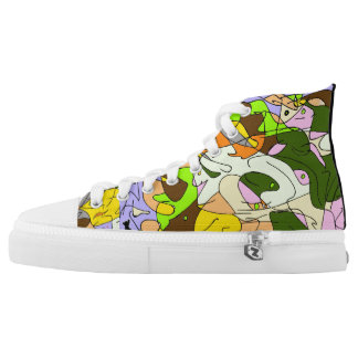 Abstract Puppy Printed Shoes