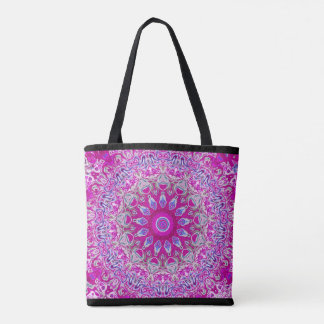 Abstract Purple all-over tote