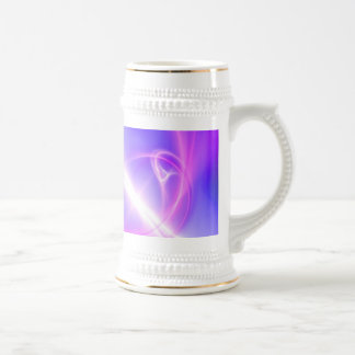 Abstract Purple and Blue Fractal Art Beer Stein