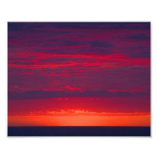 Abstract Purple and Orange Sunset Photo Print
