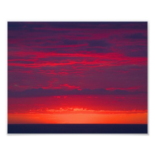 Abstract Purple and Orange Sunset Photo Art