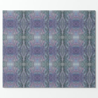 Abstract Purple Black Green and Pink Kaleidoscope Wrapping Paper