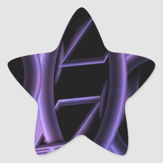 Abstract purple created by Tutti Star Sticker