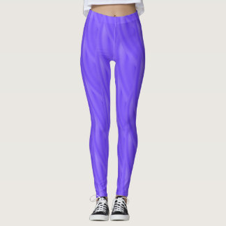 Abstract Purple Curly Wave Pattern Leggings