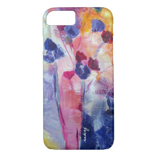 Abstract Purple Flowers Phone Case
