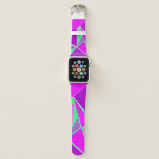 Abstract Purple Green Digital Art Pattern Cool Apple Watch Band