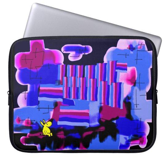 abstract purple haze laptop sleeve