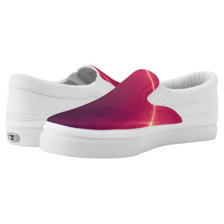 Abstract Purple Light Wave Printed Shoes