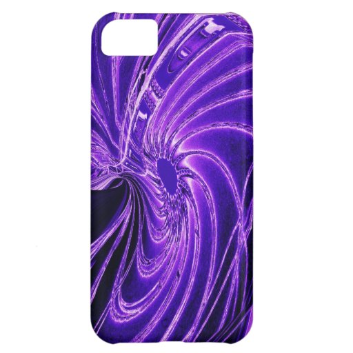 Abstract Purple Neon Flower iPhone 5 Case