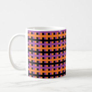 Abstract Purple, Orange and Black Coffee Mug