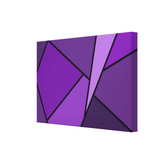 Abstract Purple Polygons Canvas Print