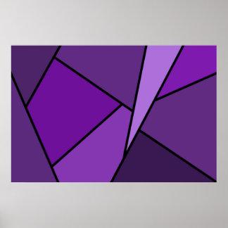 Abstract Purple Polygons Print