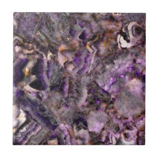 abstract Purple quartz Ceramic Tile