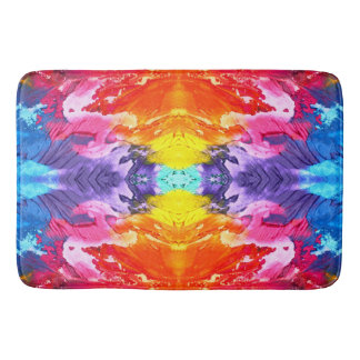 Abstract Purple Red Pink Orange Paint Texture Mat