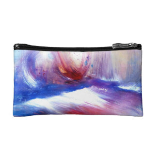Abstract Purple Shore Bagette Cosmetic Bags