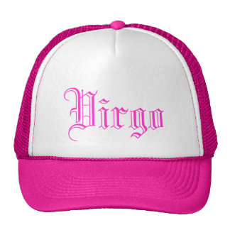 abstract purple silhouette virgo star horoscope mesh hat