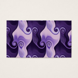 Abstract purple spiral pattern business card