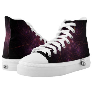 Abstract Purple Stellar Flower Printed Shoes