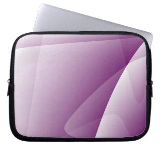 Abstract Purple White Neoprene Laptop Sleeve 10''