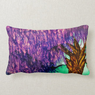 abstract purple willow throw pillow