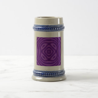 Abstract Purple Wood Pattern Beer Steins
