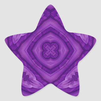 Abstract Purple Wood Pattern Star Sticker