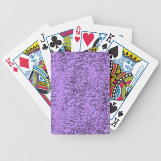 abstract purples bicycle playing cards