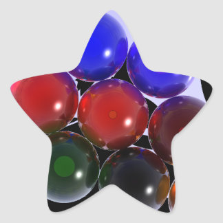 Abstract Rack Billiards 101 Star Sticker