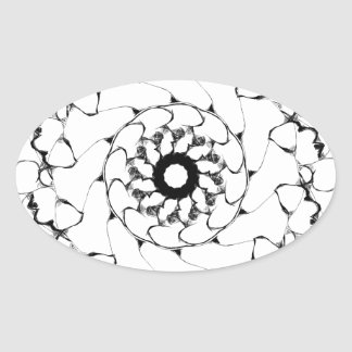 Abstract Radial Design- Bubbles #1 Stickers
