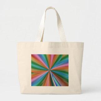 Abstract Rainbow Canvas Bags