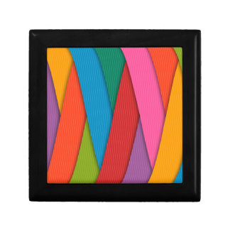 Abstract Rainbow Colors Background Gift Box