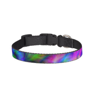 Abstract Rainbow Colours Pet Collar