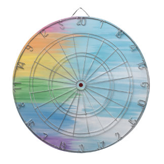 Abstract Rainbow Dartboard
