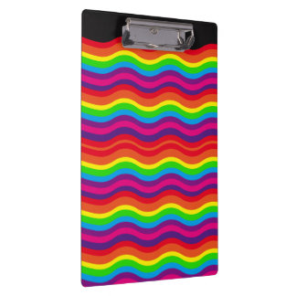 Abstract Rainbow Designed Clipboard