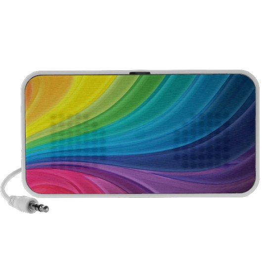 Abstract Rainbow Doodle Speakers
