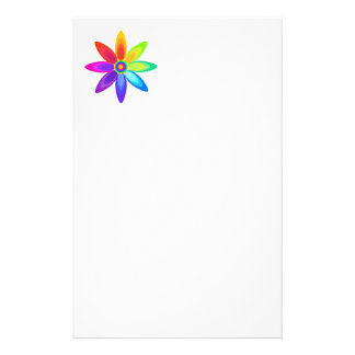 Abstract Rainbow Flower Stationery