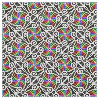 Abstract Rainbow Geometric Pattern personalizable Fabric