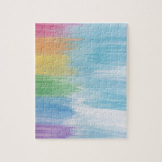 Abstract Rainbow Jigsaw Puzzle