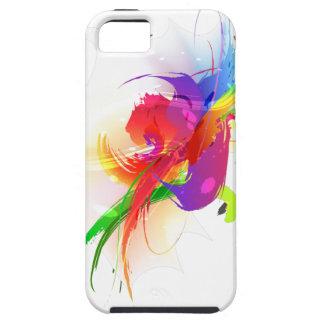 Abstract Rainbow Lorikeet Paint Splatters iPhone 5 Covers