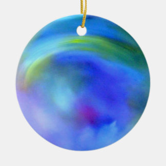 Abstract Rainbow Round Ceramic Decoration