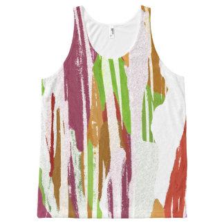 Abstract Rainbow Splash Design All-Over Print Singlet