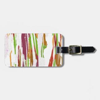 Abstract Rainbow Splash Design Luggage Tag