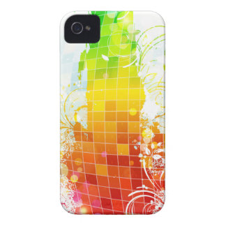Abstract Rainbow Squares iPhone 4 Case-Mate Cases