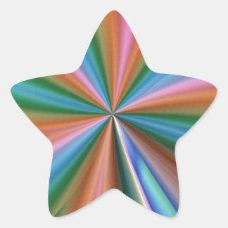 Abstract Rainbow Star Sticker