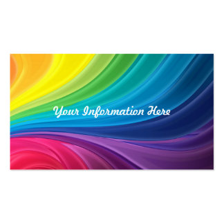 Abstract Rainbow Swirl Business Cards